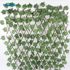 China 1 2 M Artificial Extendable Leaves Dense Privacy Fence Screen For Wall Covering Decoration China Garden Leaf Fence And Artificial Ivy Fence Price