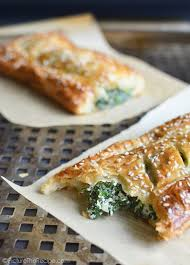 spinach puff pastry rolls with feta and