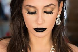 black lips edgy makeup