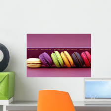 Amazon Com Wallmonkeys Assortiment De Macarons Appetissants Wall Decal Peel And Stick Graphic Wm28236 24 In W X 16 In H Home Kitchen