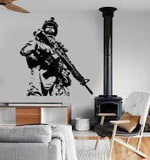 Wall Vinyl Us Soldier Marine Army Military Guaranteed Quality Etsy Vinyl Wall Mural Modern Wall Decals