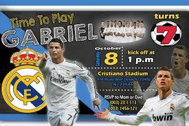 Cristiano Ronaldo Soccer Birthday Invitation Con Imagenes