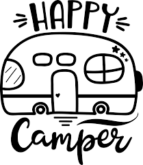 This Adorable Happy Camper Vinyl Sticker Is Perfect For Your Mug Laptop Car Window Tumbler Or Any Other S Cricut Vinyl Cricut Projects Vinyl Vinyl Decals