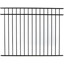 Amazon Com Specrail Diy Fence Rr9543bl Bethany Aluminum 3 Rail Fence Panel 54 Inch By 6 Feet Outdoor Decorative Fences Garden Outdoor