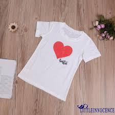 Áo thun in hình trái tim đáng yêu cho mẹ và bé giảm chỉ còn 89,598 đ