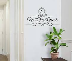 Be Our Guest Beauty And The Beast Inspired Wall Sticker Wall Chick Decal Art Sti Ebay