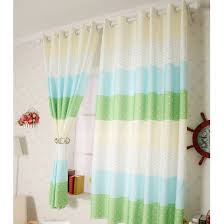 Blue And Green Pattern Kids Room Polka Dot Curtains