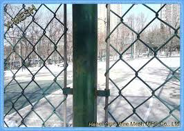 High Precision Chain Link Security Fence Panels 3 Foot 50x50 Mm Mesh