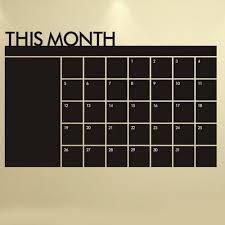 38 Off This Month Calendar Vinyl Blackboard Sticker Chalkboard Wall Decals For Kids Room Rosegal