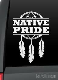 Native Pride Dreamcatcher Native American Decal Customize With Your Tribal Name Taino Rising