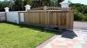 wooden sliding gate you