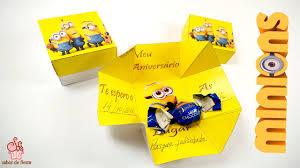 Invitacion Caja De Minions Sabor De Fiesta Youtube
