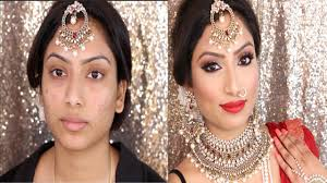 indian bridal full face makeup tutorial