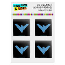 Batman Nightwing Logo Computer Case Modding Badge Emblem Resin Topped 1 Stickers Set Of 4 Walmart Com Walmart Com