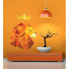 Shop Lion With Crown Wall Decal Overstock 32121774