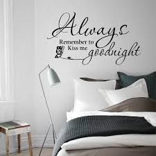 Always Remember To Kiss Me Goodnight Wall Quote Decals Black Vinyl Inspirational Wall Decals Words Letters Buy Wall Quotes Wall Quotes Always Kiss Goodnight Wall Quote Product On Alibaba Com