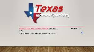 used cars el paso texas motor