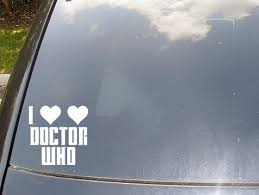 I Heart Heart Doctor Who Car Sticker By Scdj1125 On Etsy Doctor Who Dalek Tardis Doctor Who