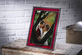 red glass picture frame graduation gift