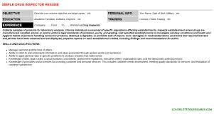 inspector job letter resume template