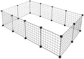 Amazon Com Metal Pet Fence Panels Portable Foldable Diy Playpen Bunny Puppy Rabbits Pigs Cat Exercise Kennel New Pet Supplies Us Stock Home Kitchen