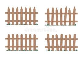 Wooden Fence In Natural Colors Vector Illustration Stock Vector Illustration Of Wood Gates 139191294