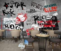 Art Design Wall Poster With Rock Star Images Art Wall Murals Wallpaper Idecoroom