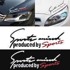 Sport Letter Car Stickers Decoration Emblem Badge Decal Auto Automobile Bonnet Sticker Car Styling For Audi Bmw Mercedes Benz Car Stickers Aliexpress