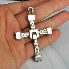men s 0 75 ct round cut diamond cross