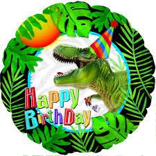 A Pedido Globo Dinosaurio T Rex Feliz Cumpleanos Hojas 579 06