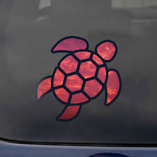 Sea Turtle Red Sky Sticker Self Adhesive Vinyl Decal Rear Window Car Truck 2 5in Ebay