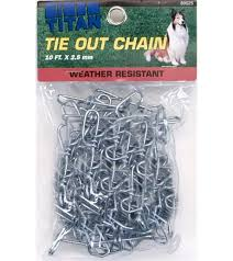 Titan Twisted Link Tie Out Chain 2 5 Mm Jacks Inc