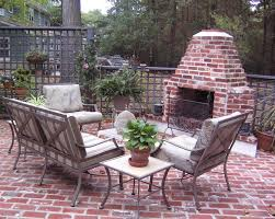 outdoor brick fireplace traditional