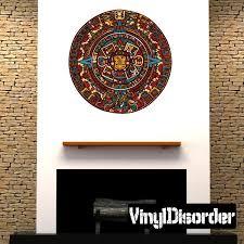 Aztec Calendar Wall Decal Vinyl Car Sticker Uscolor001 25 Inches Walmart Com Walmart Com