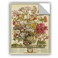 Alcott Hill October From Twelve Months Of Flowers Removable Wall Decal Wayfair