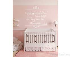 May Angel Guard You Through The Night And Keep You Safe Until The Morning Light Nursery Wall Art Love Wall Quote
