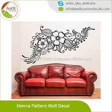 Vinyl Wall Decal Henna Pattern With Flowers Tattoo Design Car Sticker Buy Car Sticker Flower Car Sticker Indian Mehandi Removable Mural Product On Alibaba Com