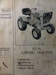 lawn garden tractor owner parts