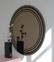 modern undas bronze tinted round wall