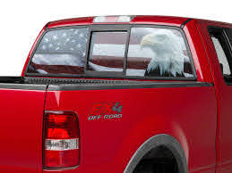 Sec10 F 150 Perforated Flag Eagle Rear Window Decal T532540 97 20 F 150
