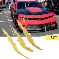 Retire Xotic Nbsp Tech 12 Monster Claw Mark Headlight Taillight Scratch Decal Aggressive Mods Sticker Gold Walmart Com Walmart Com