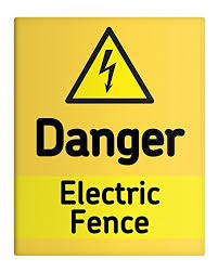 Ohngangd Danger Electric Fence Metal Sig Buy Online In Czech Republic At Desertcart