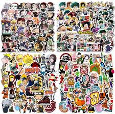 Amazon Com 200pcs Anime Mixed Stickers Popular Classic Anime Stickers For Laptop Water Bottles Phone Case Notebook Decal Arts Crafts Sewing