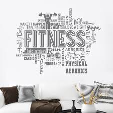 Best Offer 6a5c0f Fitness Decal Gym Sticker Body Building Posters Vinyl Wall Decals Mural Fitness Crossfit Decal Muscle Gym Sticker Cicig Co