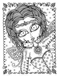 Zen Fairy Volwassen Kleurplaat Pagina Instant Download Feeen Etsy