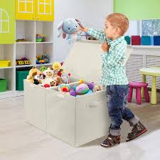 Sorbus Kids Large Toy Storage Chest With Lid Beige Walmart Com Walmart Com