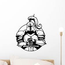 White Knight Wall Decal Wallmonkeys Com