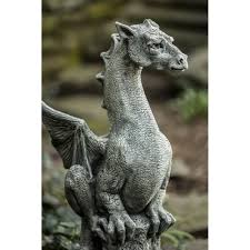cast stone large dragon outdoor statue