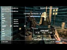 skyrim 100 smithing cheat guide you