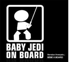 Sticker Baby On Board Car Decals Jedi Baby Jedi Star Wars Baby Shower Jedi